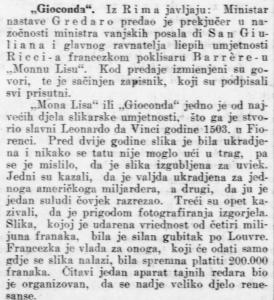 vijest iz 1913.