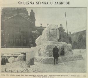 Snježna sfinga u Zagrebu