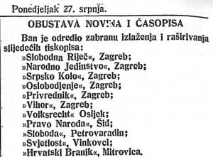 Novosti_1914-07-27_Obustava novina i časopisa