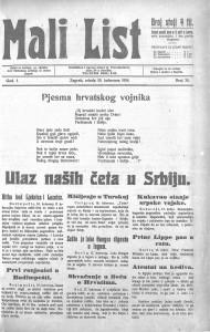 Mali list (Zagreb) 19.8.1914.