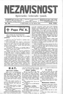 Nezavisnost (Bjelovar) 22.8.1914.