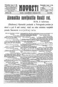Novosti 3.8.1914.