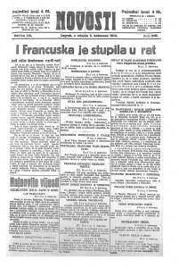 Novosti 5.8.1914.