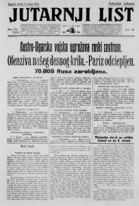 Jutarnji list 2.9.1914.