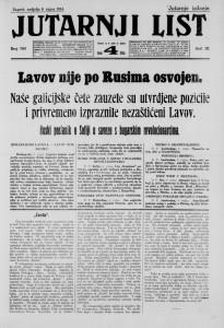Jutarnji list 6.9.1914.