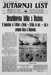 Jutarnji list 30.10.1914.