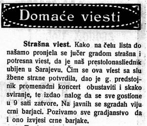 Virovitičan, 29. lipnja 1914.