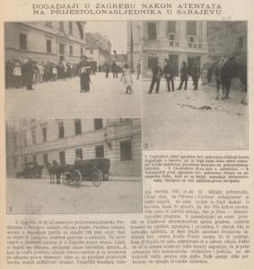 Zagreb nakon atentata u Sarajevu