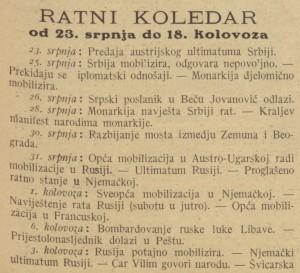 Ilustrovani list_1914-08-29_Ratni koledar_1