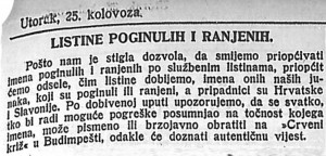 Novosti_1914-08-25_Listine poginulih i ranjenih