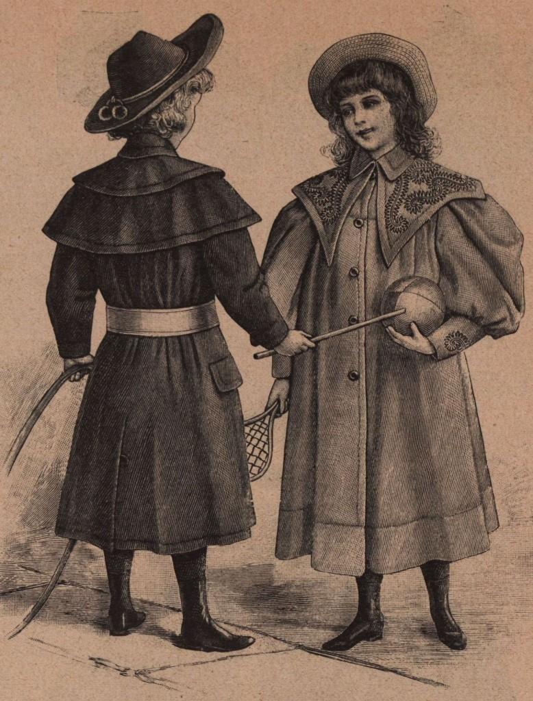 Proljetni haljetak za dječake, Proljetna kabanica za djevojčice