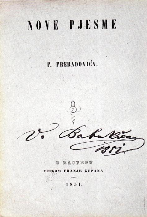 Nove Pjesme Preradovic Preradovic
